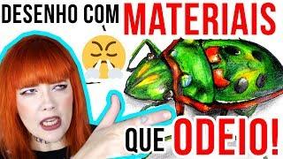 DESENHO USANDO APENAS MATERIAIS MUITO RUINS QUE NÃO GOSTO!!!