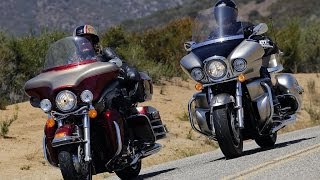 2009 Harley-Davidson Electra Glide vs Kawasaki Vulcan - MotoUSA