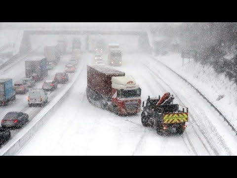 Xxx Mp4 How Snow And Freezing Conditions Have Hit Wales Scotland And England ITV News 3gp Sex