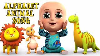 Alphabet Animal Song | ABC Song for Kids | Nursery Rhymes from Jugnu kids