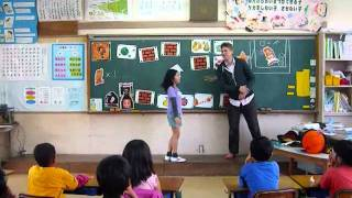 Super Mario English Lesson at Elementary School in Japan