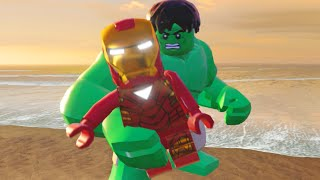 Lego Marvels Avengers All Team Up Special Moves (Showcase)
