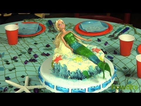 Cómo hacer un pastel con forma de Sirena de la manera mas sencilla