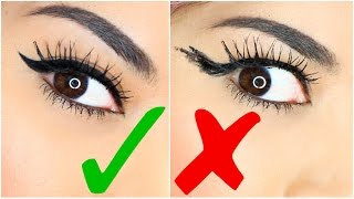 9 EASY EYELINER HACKS For Perfect Winged Eyeliner!