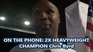 Chirs Byrd Reveals How Shannon Briggs saved his life with CBD Marijuana