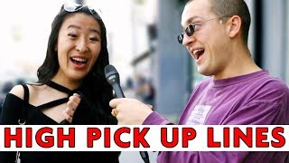 I GOT HIGH AND USED AWFUL PICKUP LINES ON STRANGERS | Chris Klemens