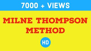 Milne Thomson method in maths : Engineering Lectures