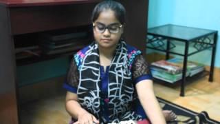 Anusha is singing Akash Meghe Dhaka.... 08 March 2016