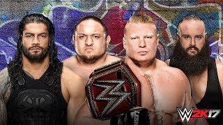 WWE SUMMERSLAM 2017 Brock Lesnar vs Roman Reigns vs Samoa Joe vs Braun Strowman