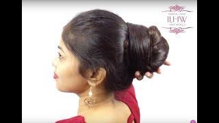 How to Make Elegant Khopa (Hair Bun) for Knee Length Hair, Khopa Flaunting & Khopa Drop