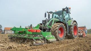 Fendt 722 au semis de maïs 2016 en combiné (ATS)