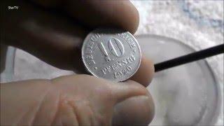 czyszczenie poniemieckich monet  Pfenig 1920 r wykopki