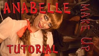 Maquillaje de la muñeca Anabelle para Halloween - Anabelle make Up - Argentina