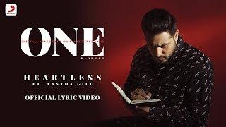 Heartless - Badshah ft. Aastha Gill  | O.N.E. ALBUM | Lyrics Video