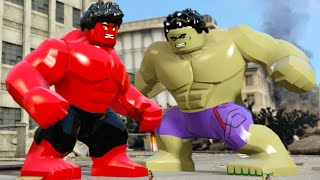 Lego Marvels Avengers Hulk VS Red Hulk