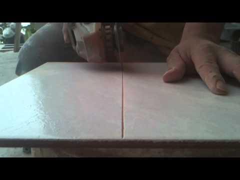 Como cortar azulejo con pulidor sin estillar Tomen sus precauciones
