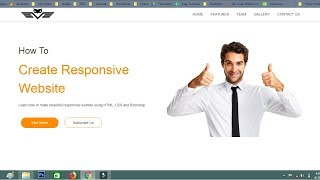 How To Create Website Using HTML CSS Bootstrap | Responsive Website Tutorial