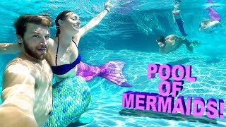 😲POOL FULL OF MAGICAL MERMAIDS!! 🎏