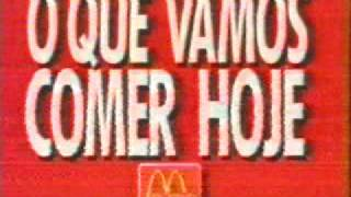 Propagandas antigas McDonald's 1994