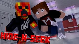 SKIPPING CLASS! - School Hide and Seek w/ PrestonPlayz (Minecraft Minigame)