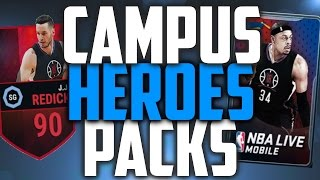 New 90 OVR JJ Redick - Campus Heroes Pack Opening - NBA Live Mobile