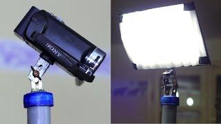 صنع حامل كاميرا\لوحة اضاءة - How to make Camera/light Stand