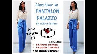 DIY. El pantalón palazzo más fácil del mundo. Doble tutorial.
