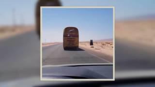 تصوير سائق اتوبيس السوبر جيت و هو يسوق بسرعه جنونيه - شاهد الفيديو