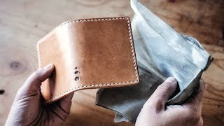 Making an Armored Leather Wallet (With STAINLESS STEEL!)