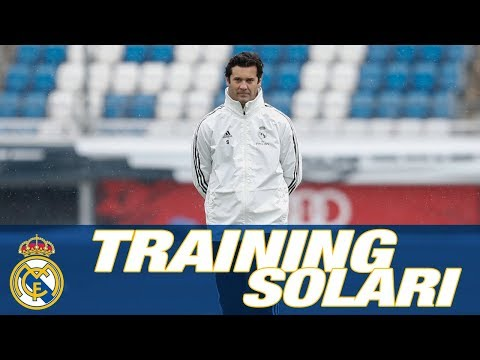 SANTIAGO SOLARI First Real Madrid training session