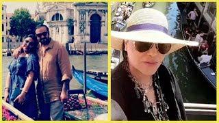 شاهد رحلة الفنانة احلام مع زوجها في مدينية فينيسيا الايطالية