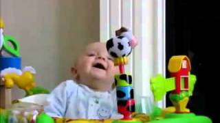 Cute baby gets scared when mother sneezes!