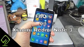 50 Things to know about  Xiaomi Redmi Note 3 (Frequently Asked Questions)