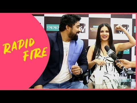Xxx Mp4 Sunny Leone And Rannvijay Singha Play Fun Rapid Fire Game 3gp Sex