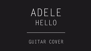 Adele - Hello (Electric Guitar ROCK Cover) (Audio)