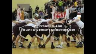 Barnum 2011-2012 Boys Basketball Team