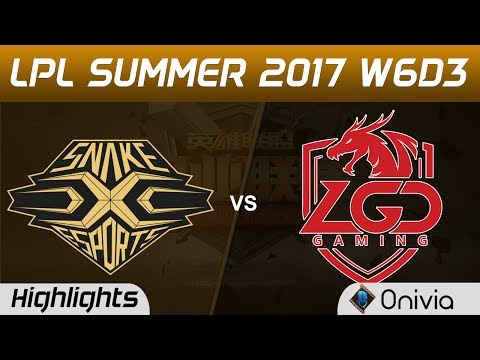SS vs LGD Highlights Game 3 LPL SUMMER 2017 Snake vs LGD Gaming by Onivia