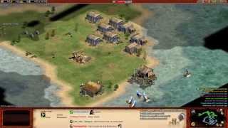 Aoe2 HD: 3v5 Pilgrims (Italians, Galleys & Knights)