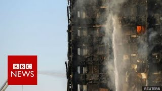 """London Fire: """"There were people screaming for help"""" - BBC News"""
