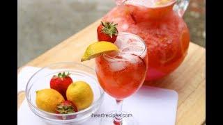 Easy Strawberry Lemonade Recipe -  Homemade Lemonade - I Heart Recipes