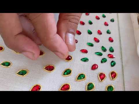 Xxx Mp4 A Beautiful Blouse With Red And Green Stones Full Process 3gp Sex