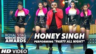Honey Singh Performingparty All Night At Radio Mirchi Awards 2016