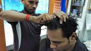 Amazing hair cracking head massage( Must Watch)