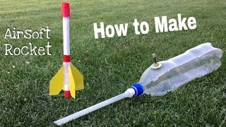 How to Make a Paper Rocket - Simple Airsoft Rocket Launcher