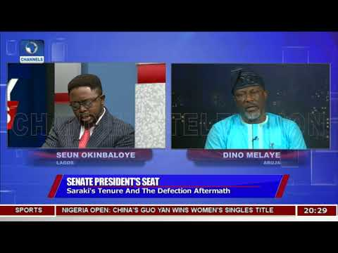 Bukola Saraki Will Be Senate President For Four Years Melaye Insists Pt.2 Politics Today