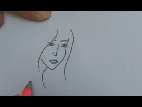 30 saniyede kız yüzü resmi nasıl çizilir - osman çakır