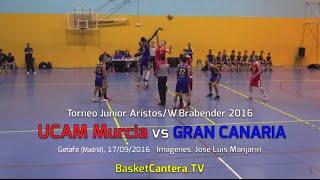 U18M - UCAM Murcia Vs. GRAN CANARIA.- Torneo JUNIOR Aristos/Brabender 2016 (BasketCantera.TV)