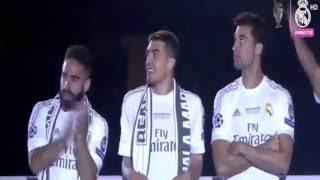 احتفالات فريق ريال مدريد  بلقب دوري ابطال اوروبا في ملعب سانتياغو بيرنابيو 29/ 05 /2016 HD