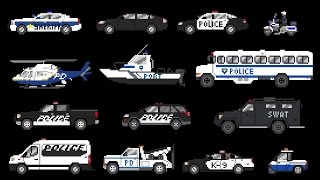 Police Vehicles - Emergency Vehicles - The Kids