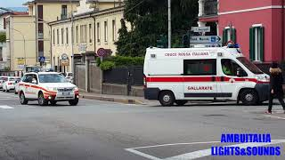[HD] |2x Ambulances in Emergency_Italy| CRI Gallarate + CRI Varese